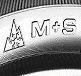 M + S aanduiding is niet voldoende vor een winterband